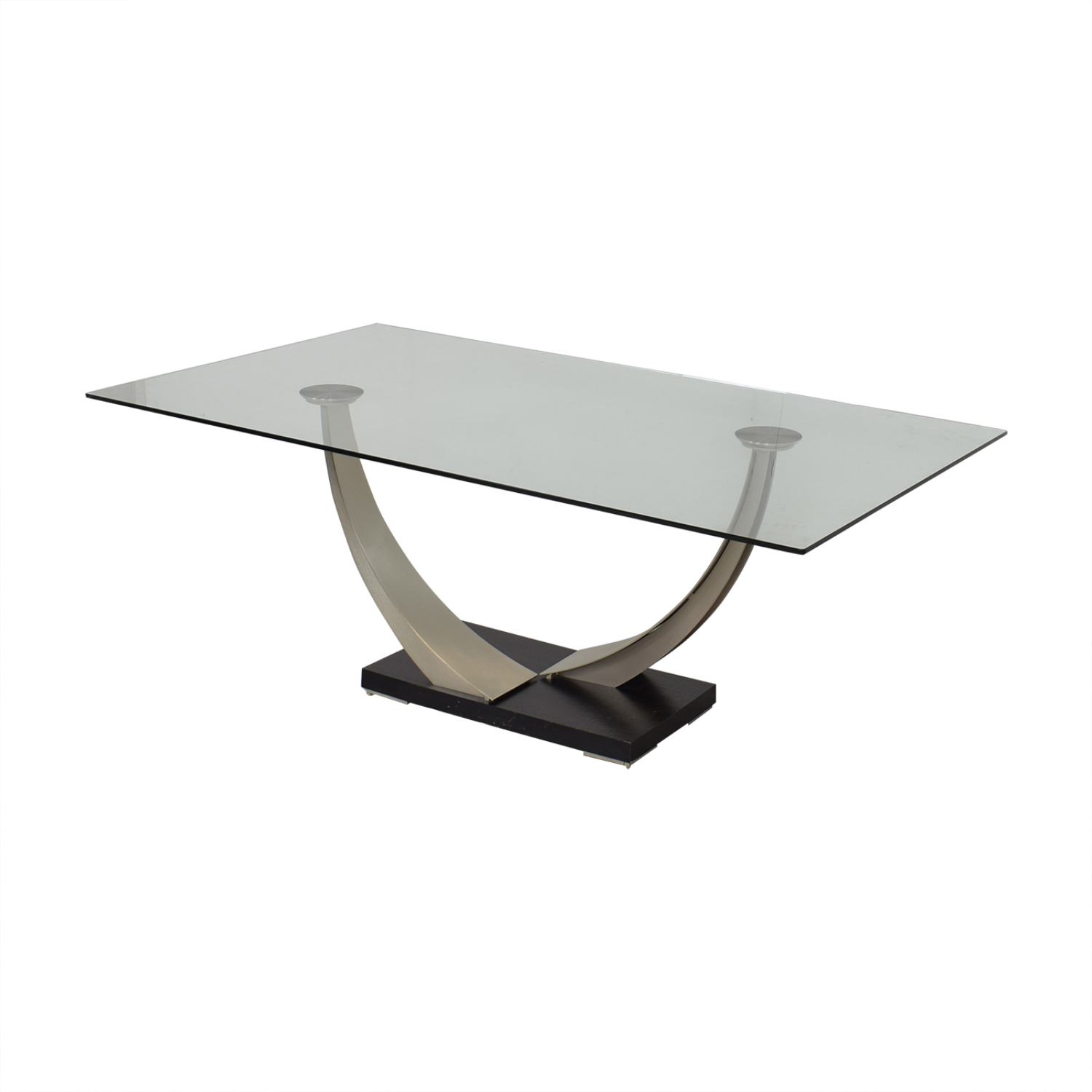 Modern Glass Top Dining Table pa