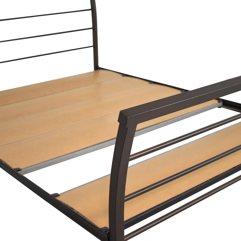 shop Amisco Metal Queen Bed Frame Amisco