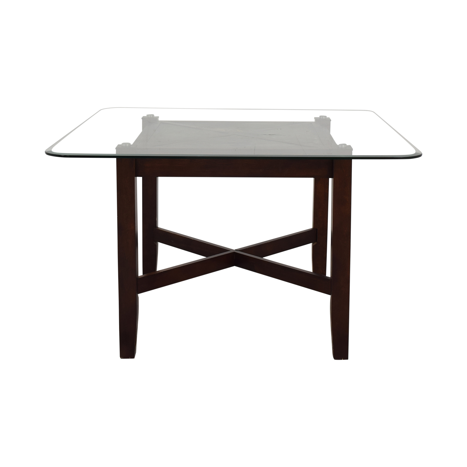 Raymour & Flanigan Raymour & Flanigan Glass Top Dining Table on sale