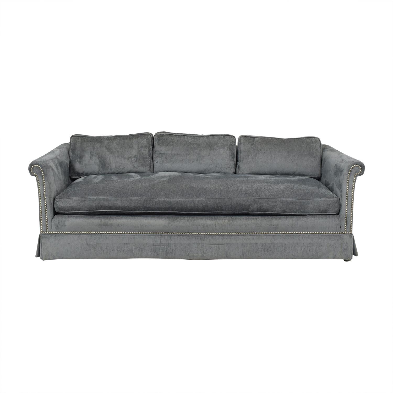 Vintage Three Seater Sofa with Kravet Fabric ma