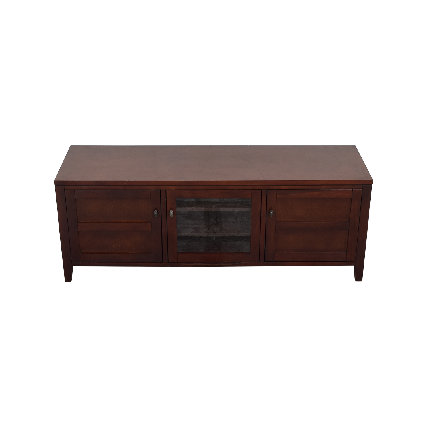 shop Crate & Barrel Media Console with Cabinets Crate & Barrel Media Units