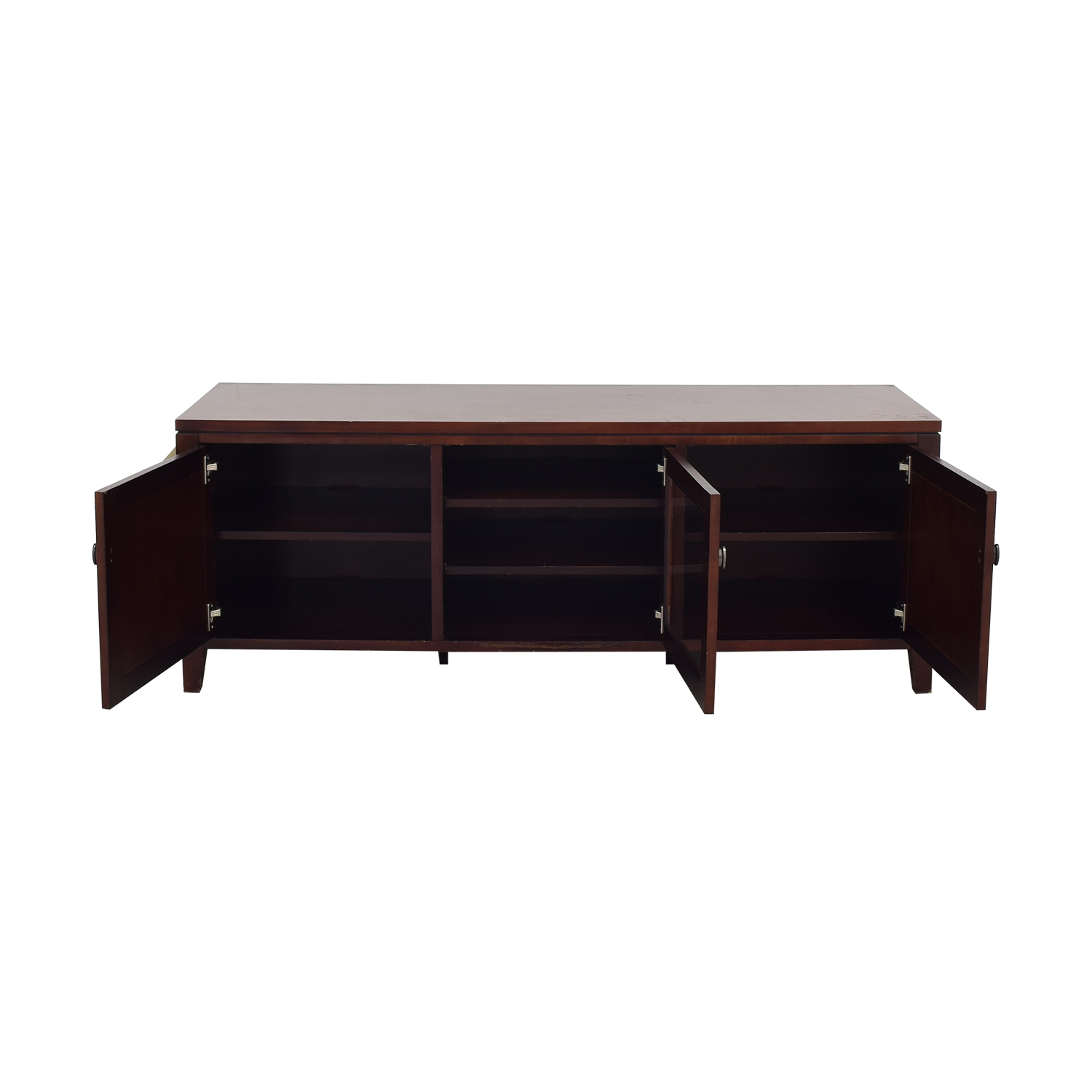 Crate & Barrel Media Console with Cabinets / Media Units