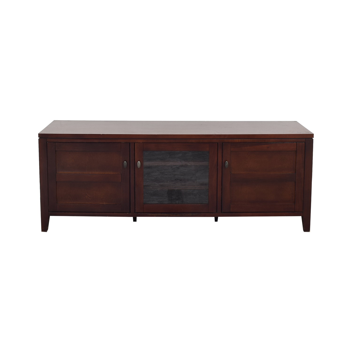 buy Crate & Barrel Media Console with Cabinets Crate & Barrel