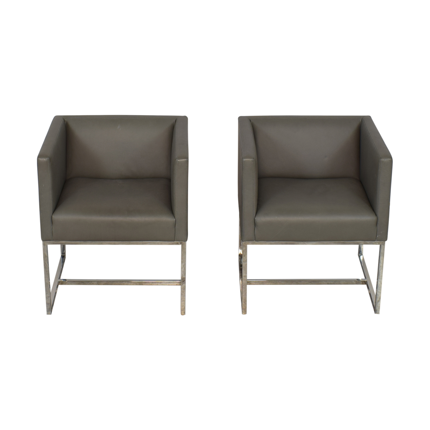 Restoration Hardware Emery Shelter Arm Chairs / Chairs