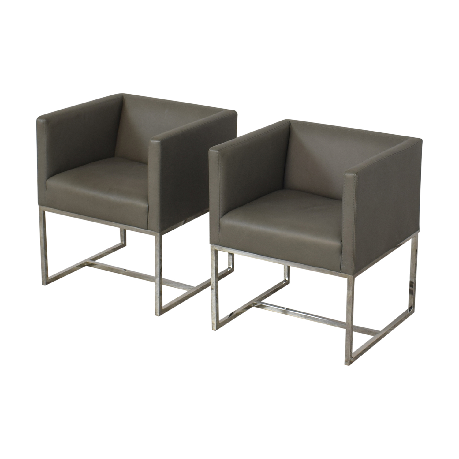 Restoration Hardware Restoration Hardware Emery Shelter Arm Chairs nj