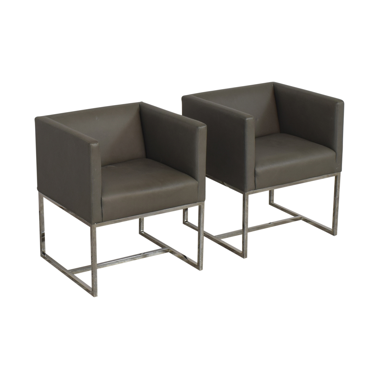 Restoration Hardware Restoration Hardware Emery Shelter Arm Chairs ma