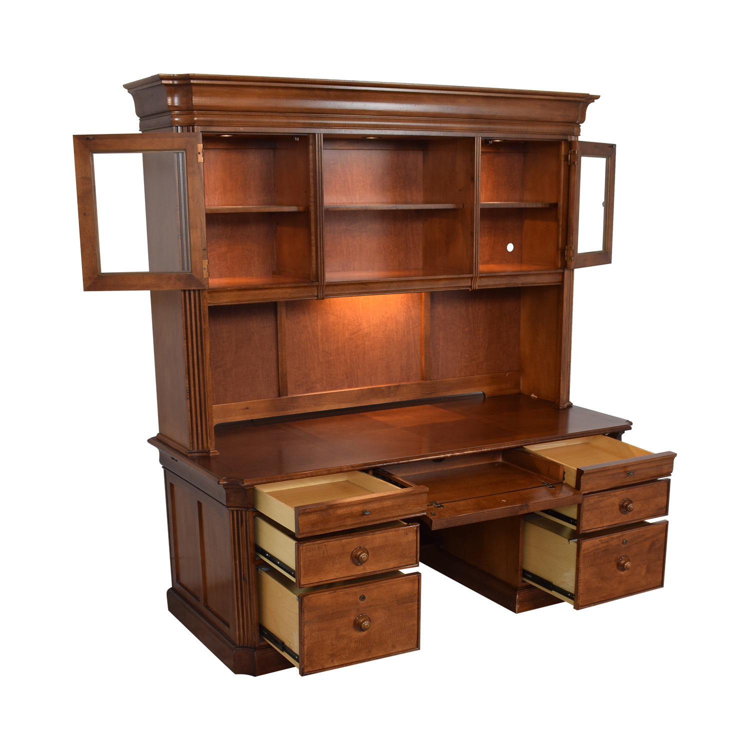 Stanley Furniture Stanley Furniture Executive Desk and Hutch discount