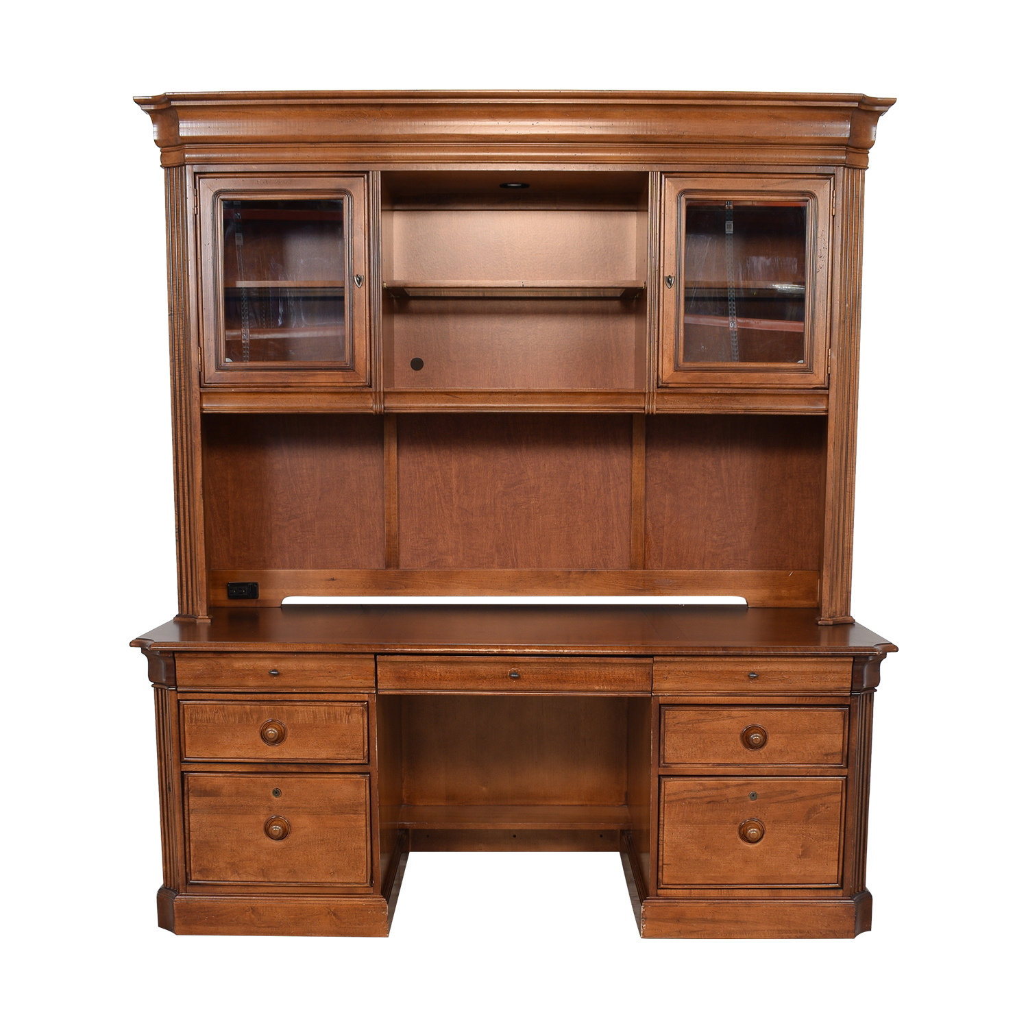 shop Stanley Furniture Executive Desk and Hutch Stanley Furniture Home Office Desks