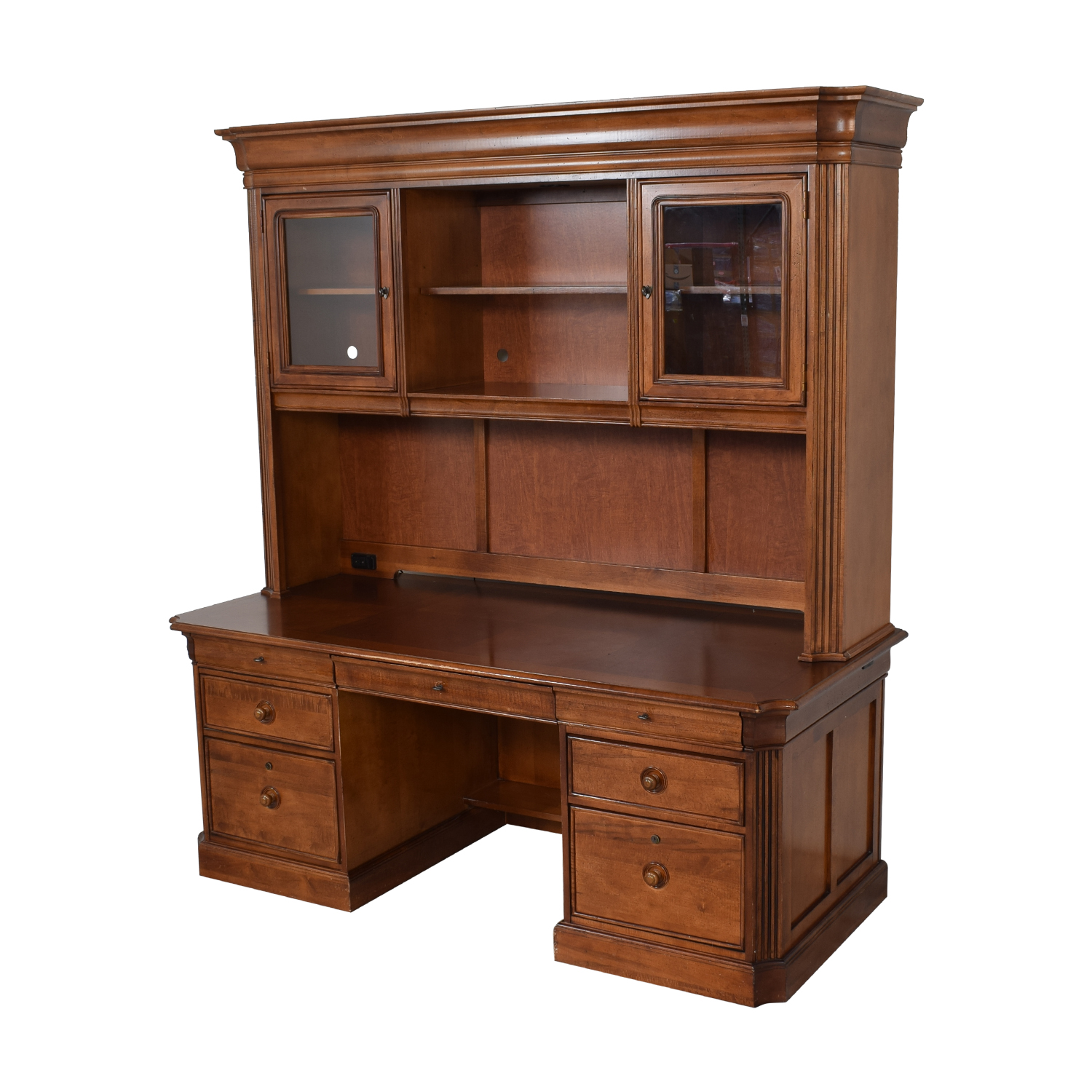 buy Stanley Furniture Executive Desk and Hutch Stanley Furniture Tables