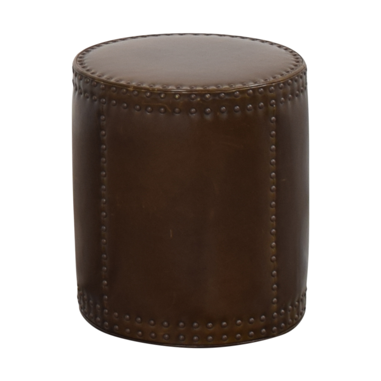 Lee Industries Studded Drum Ottoman Lee Industries