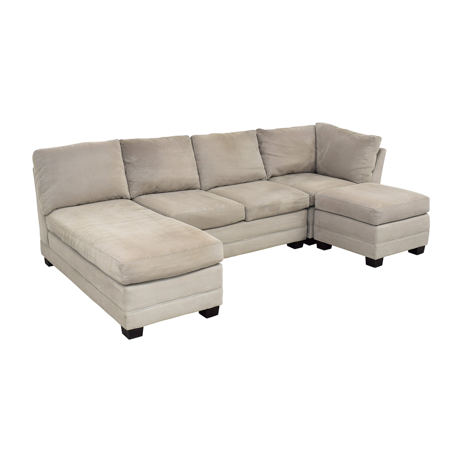 Crate & Barrel Crate & Barrel Sectional Sofa with Chaise dimensions