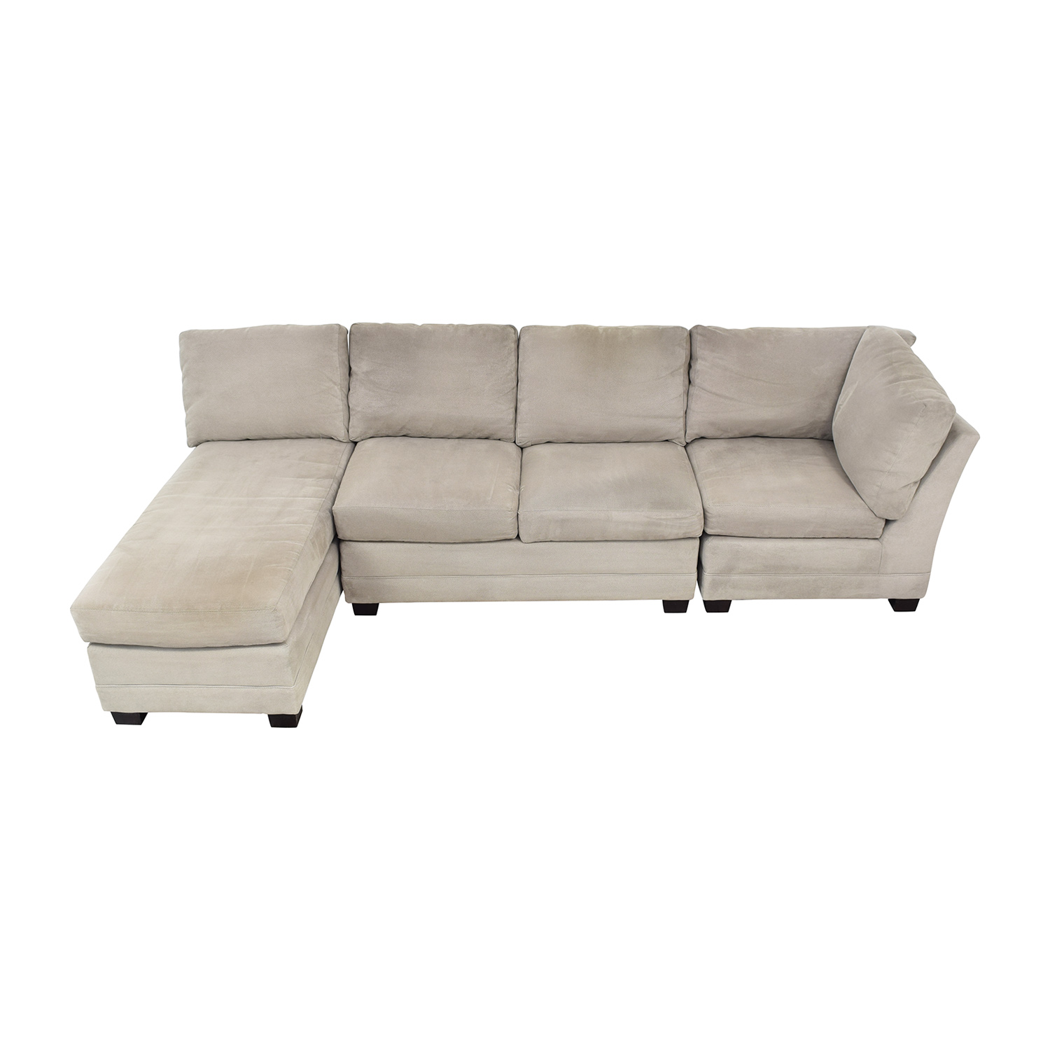 Crate & Barrel Crate & Barrel Sectional Sofa with Chaise on sale