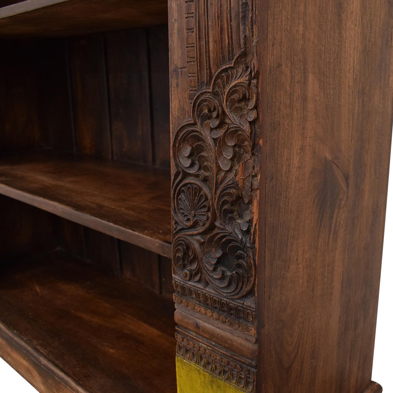 Antique Carved Bookshelf
