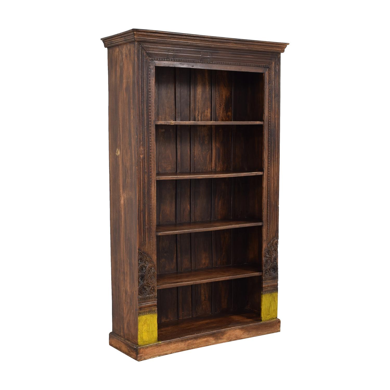 Antique Carved Bookshelf brown