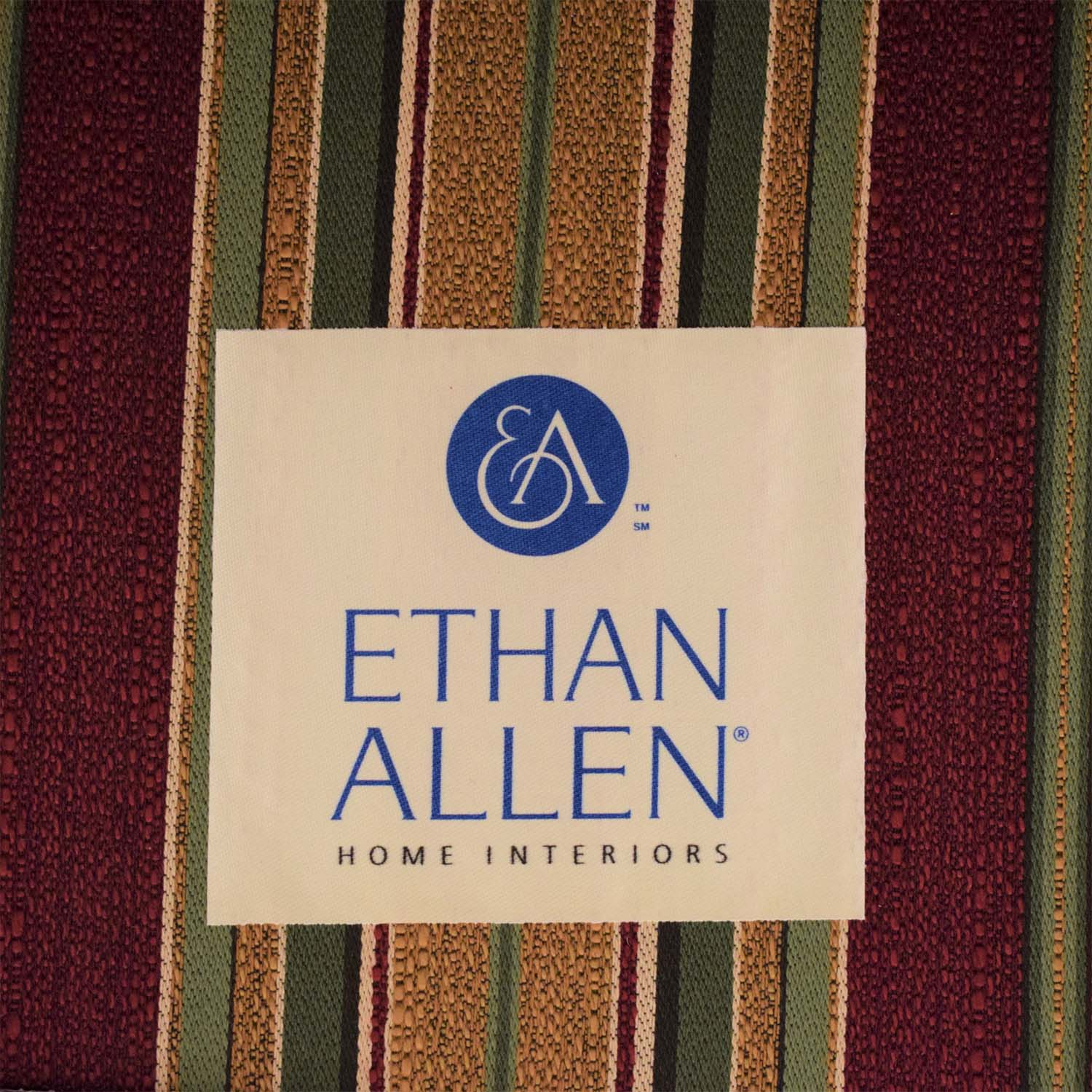 shop Ethan Allen Slipcovered Chair and Ottoman Ethan Allen Chairs