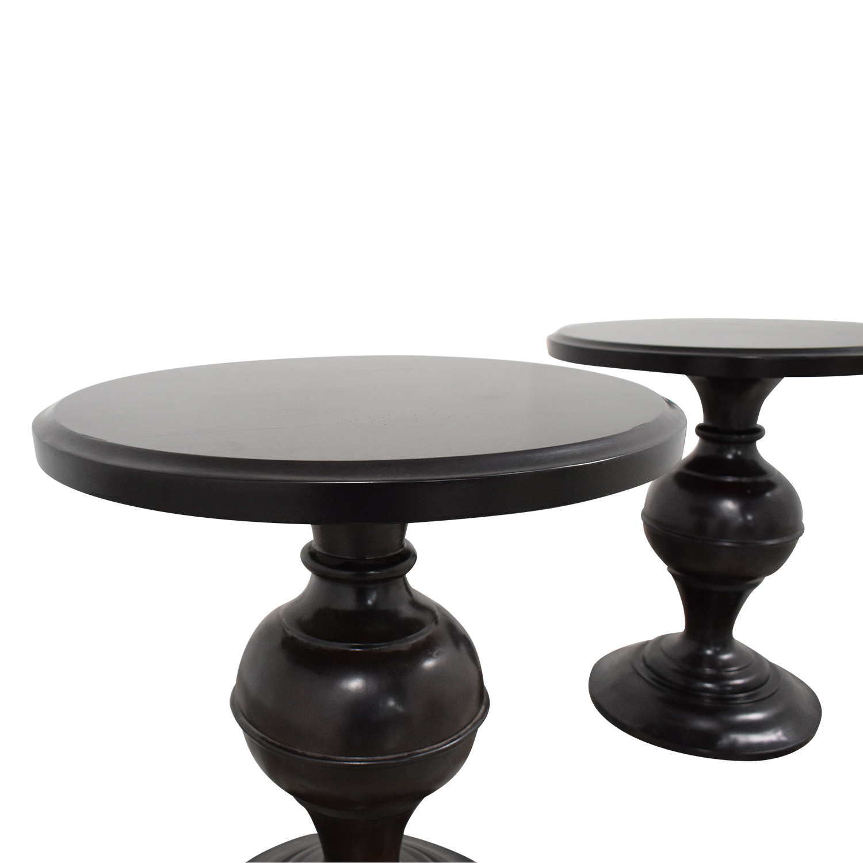 Pedestal Side Tables dimensions
