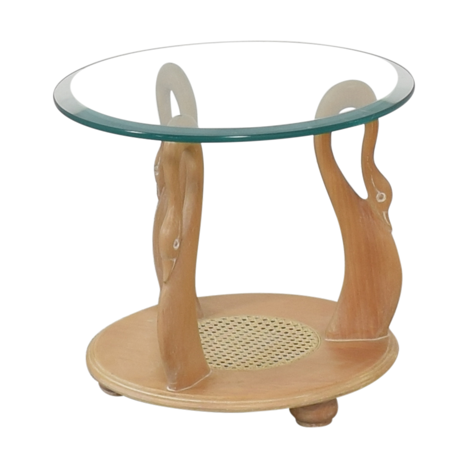buy Hand Carved Mid Century Side Table  Tables