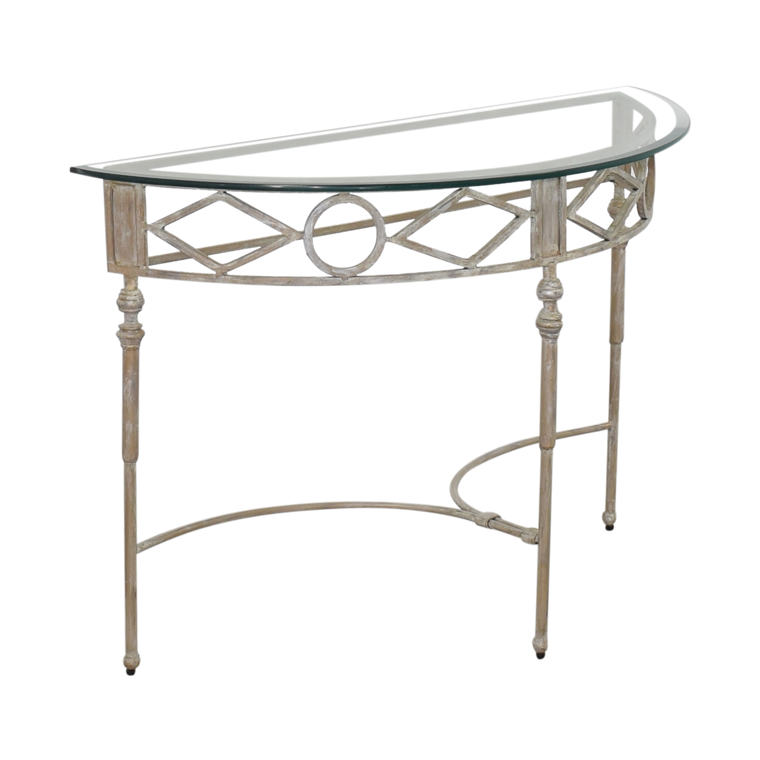 Half Moon Glass Entry Table on sale