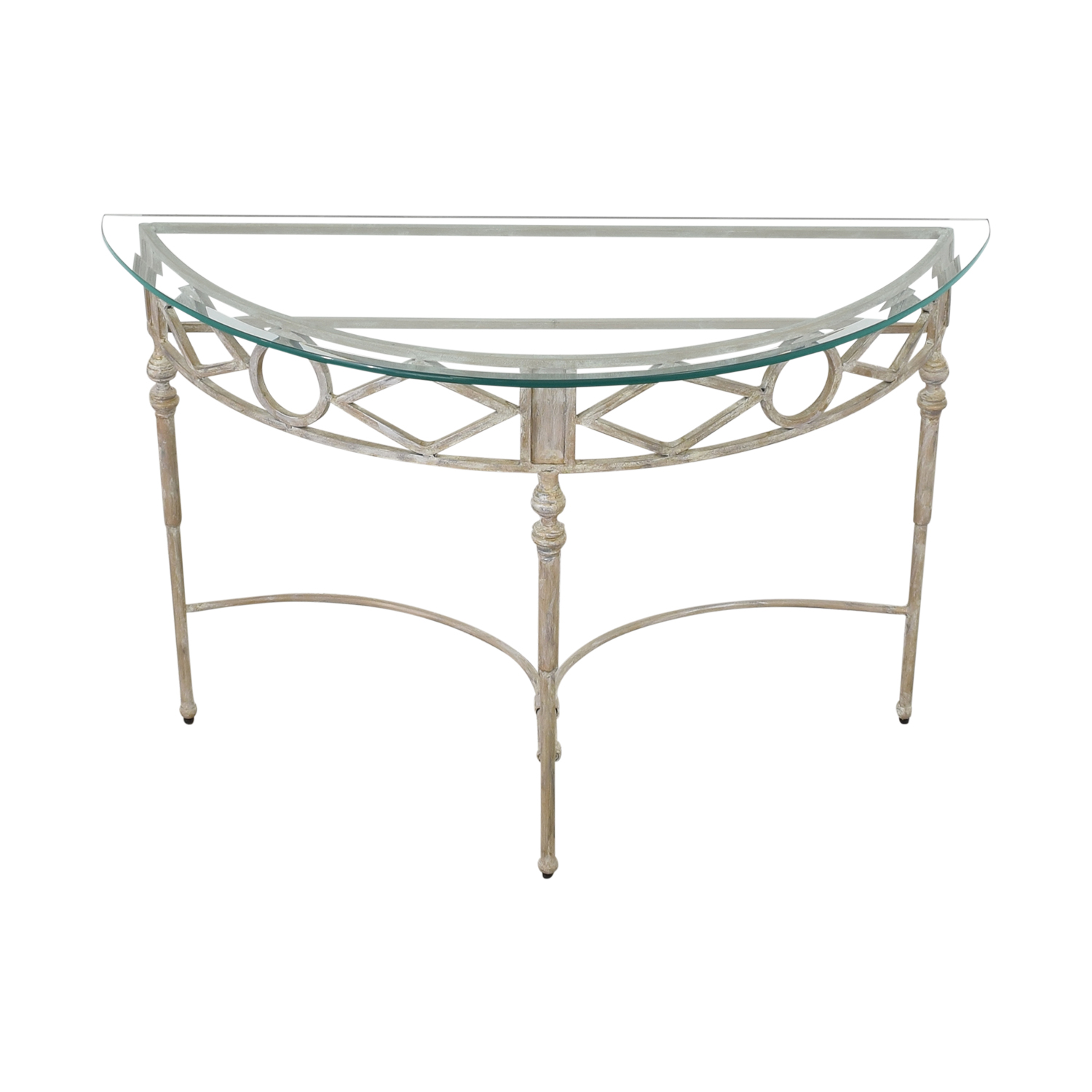 Half Moon Glass Entry Table price