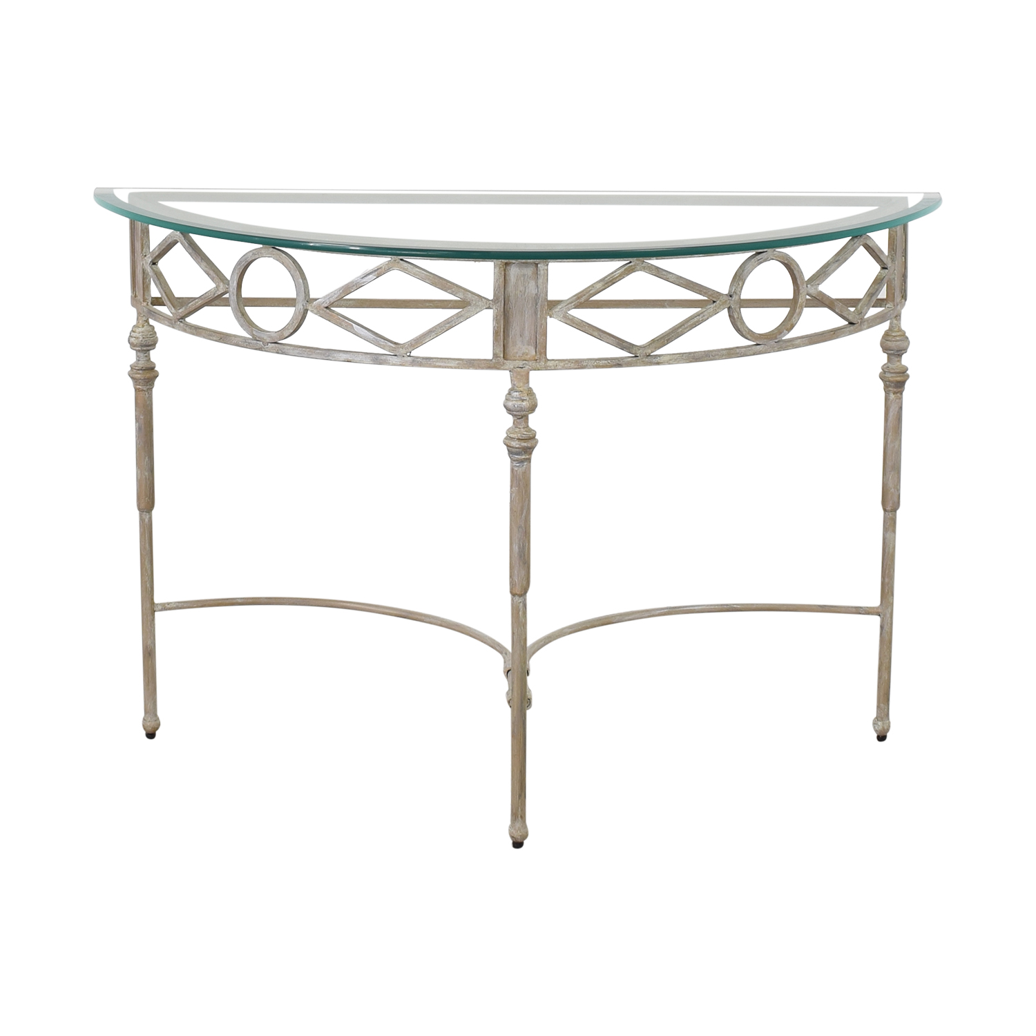Half Moon Glass Entry Table pa