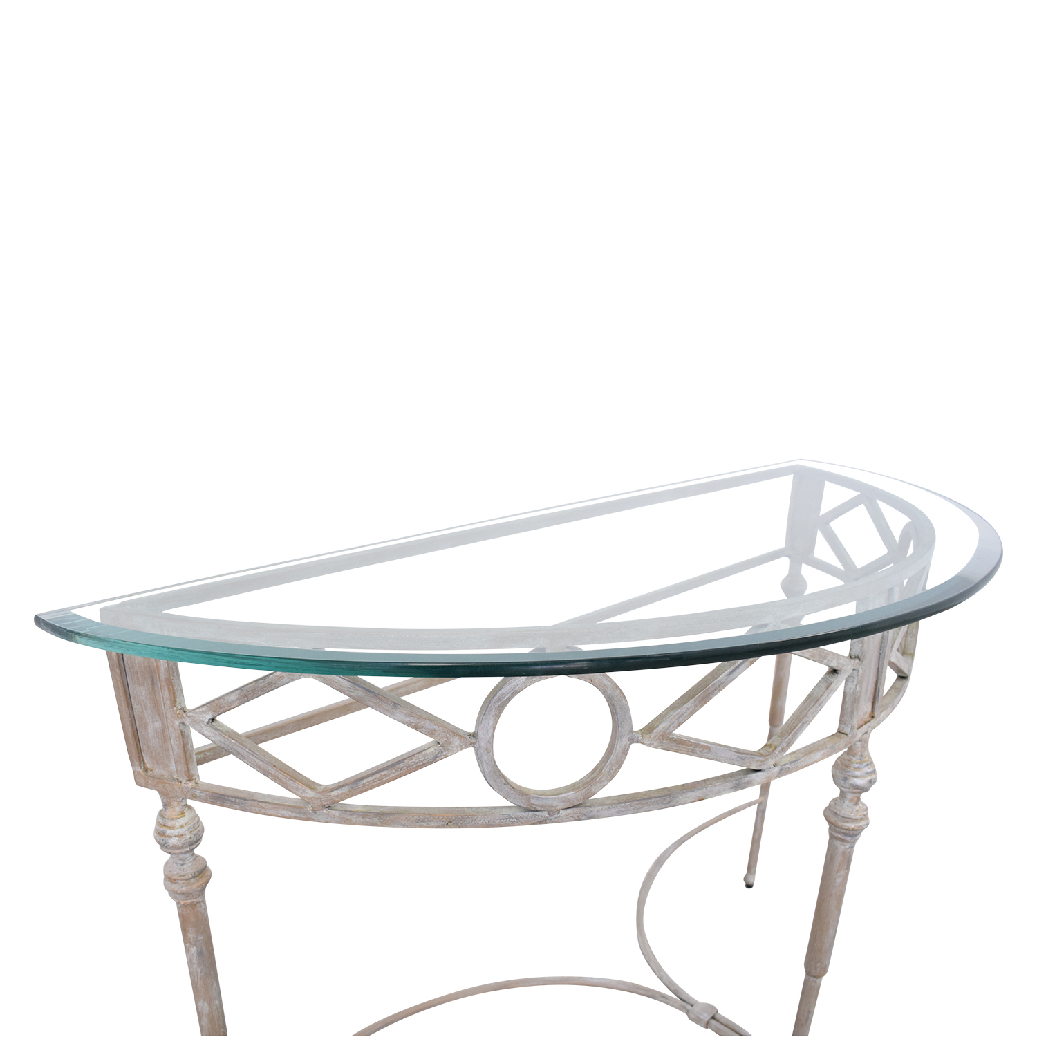 shop Half Moon Glass Entry Table  Accent Tables