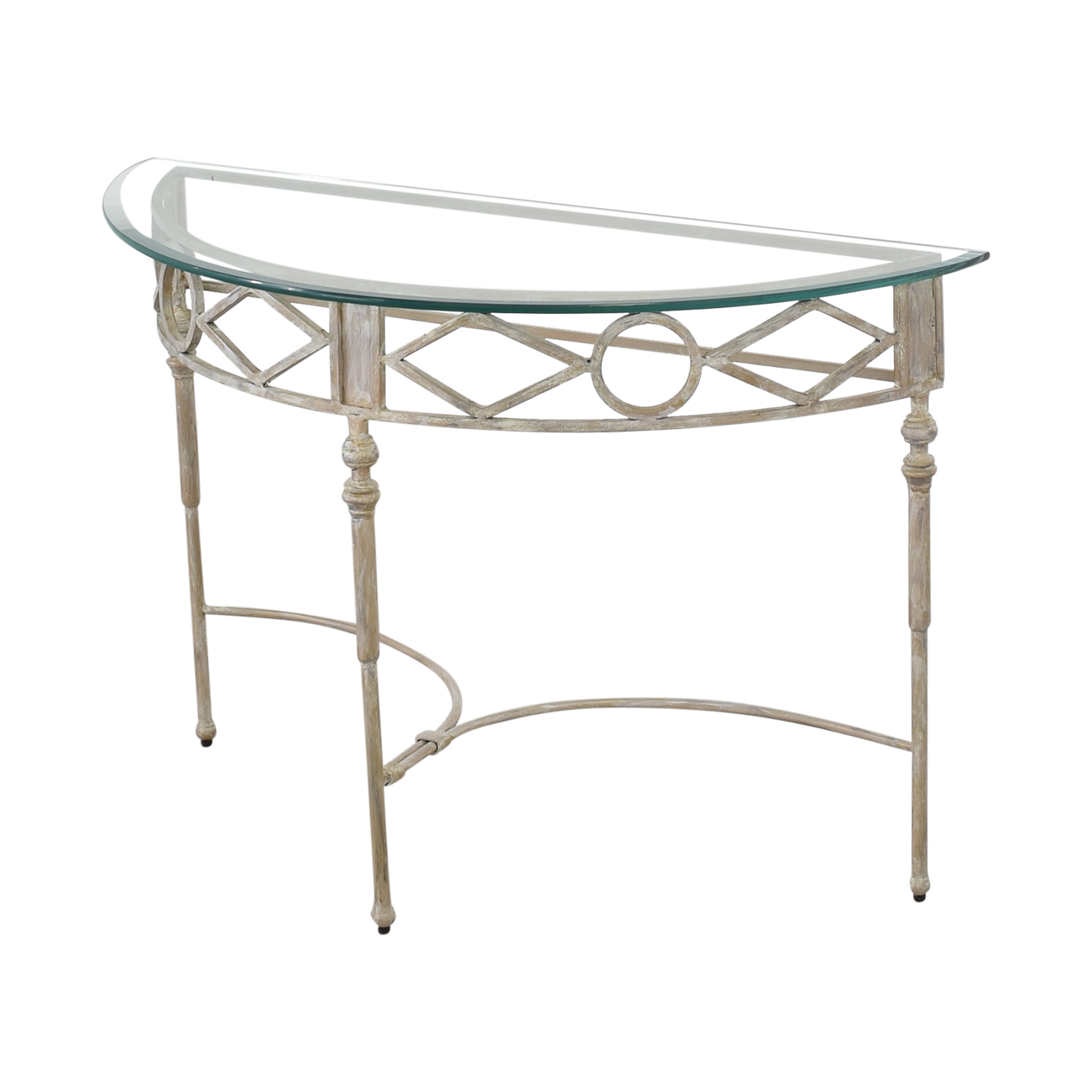 buy Half Moon Glass Entry Table