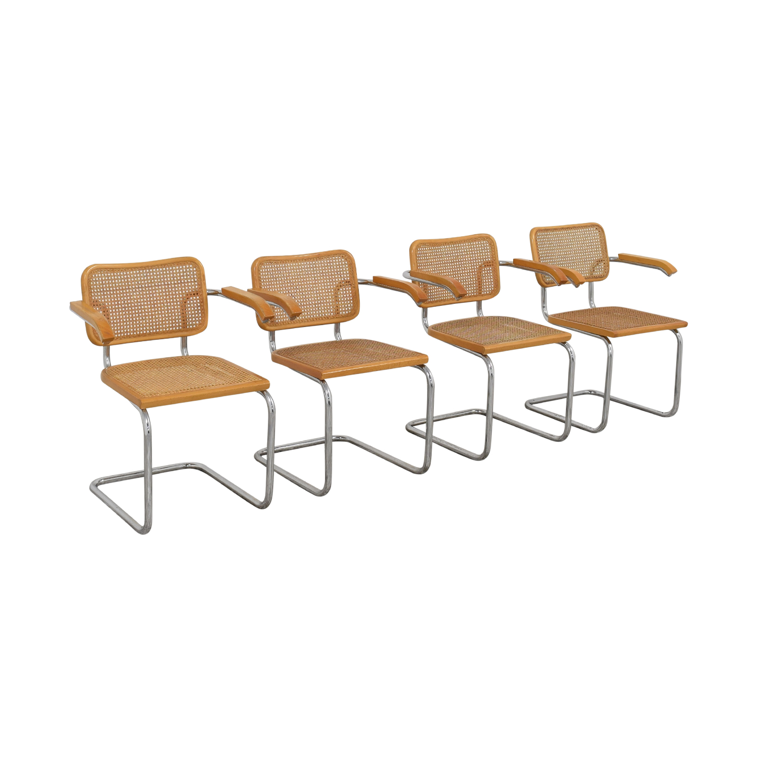 Scandinavian Designs Scandinavian Designs Bendt Dining Arm Chairs brown