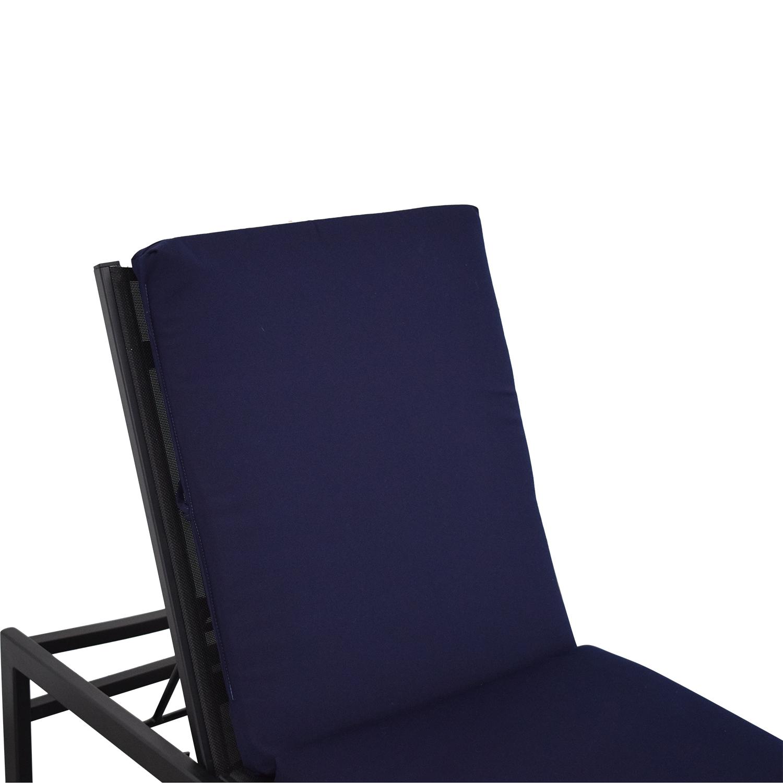 CB2 Idle II Black Sun Lounger with Polywood Brand Cushion sale