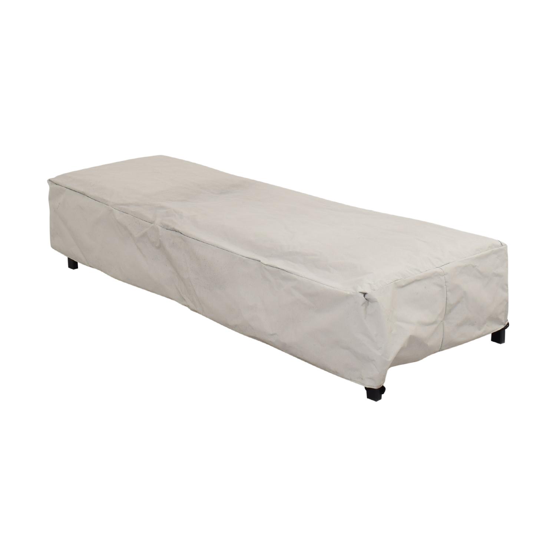 CB2 CB2 Idle II Black Sun Lounger with Polywood Brand Cushion dimensions