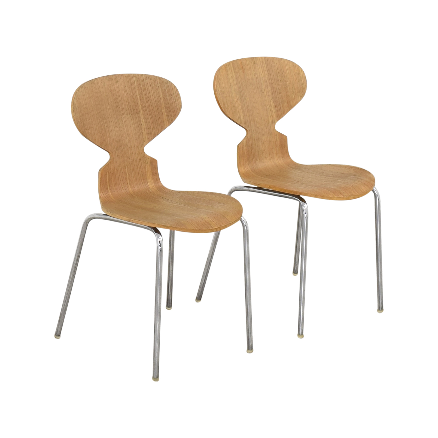 CB2 CB2 Side Chairs brown