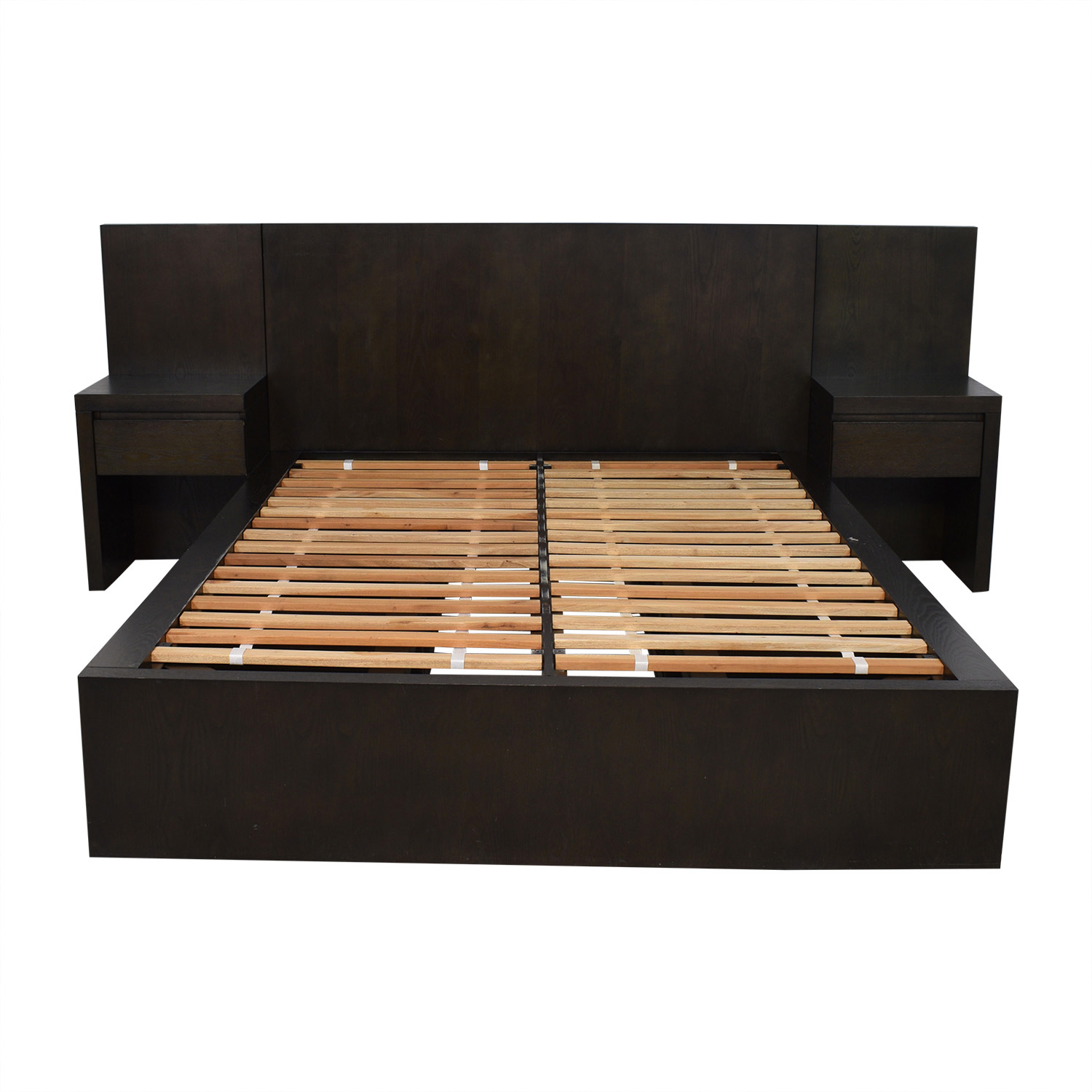buy West Elm Queen Storage Platform Bed Set with Nightstands West Elm