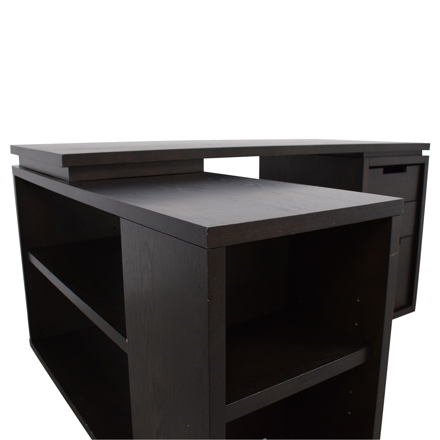 buy West Elm Modular Office L-shaped Desk and Bookcase West Elm Tables