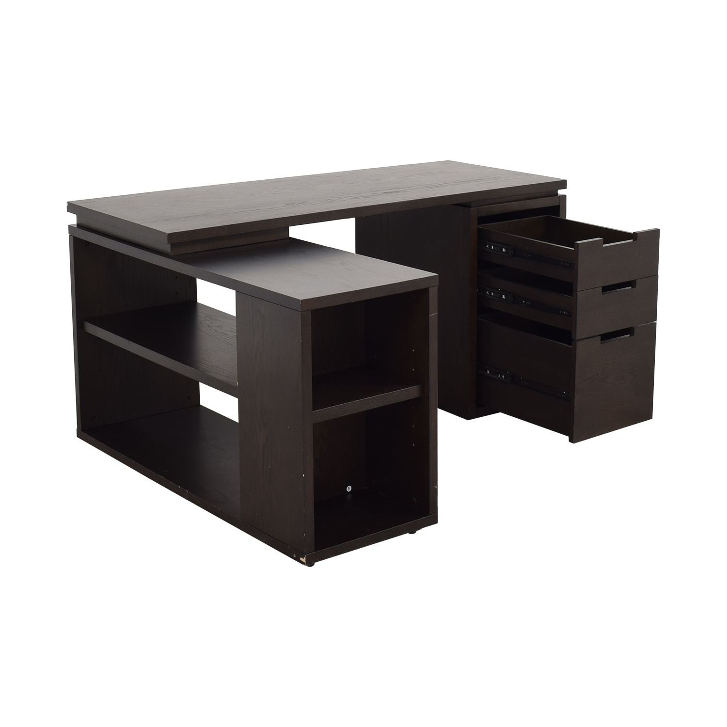 West Elm West Elm Modular Office L-shaped Desk and Bookcase discount