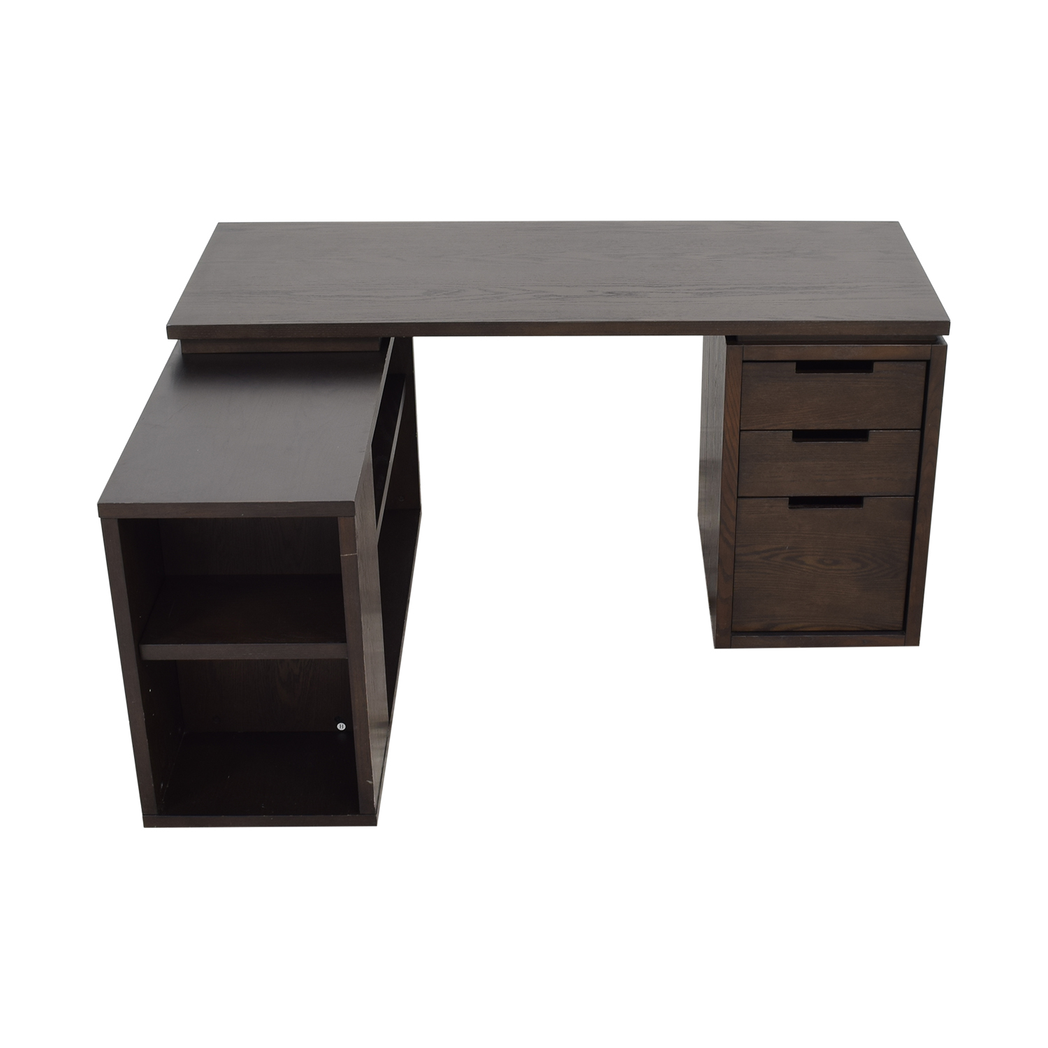 shop West Elm Modular Office L-shaped Desk and Bookcase West Elm
