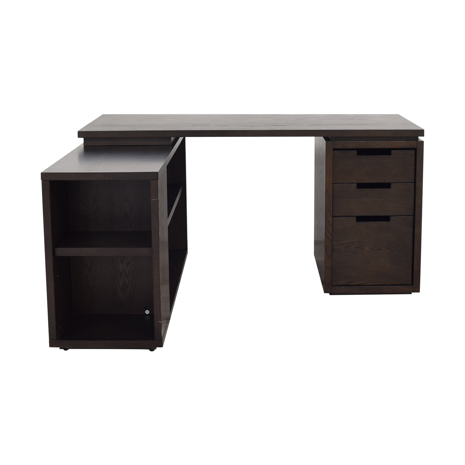 West Elm West Elm Modular Office L-shaped Desk and Bookcase dark brown