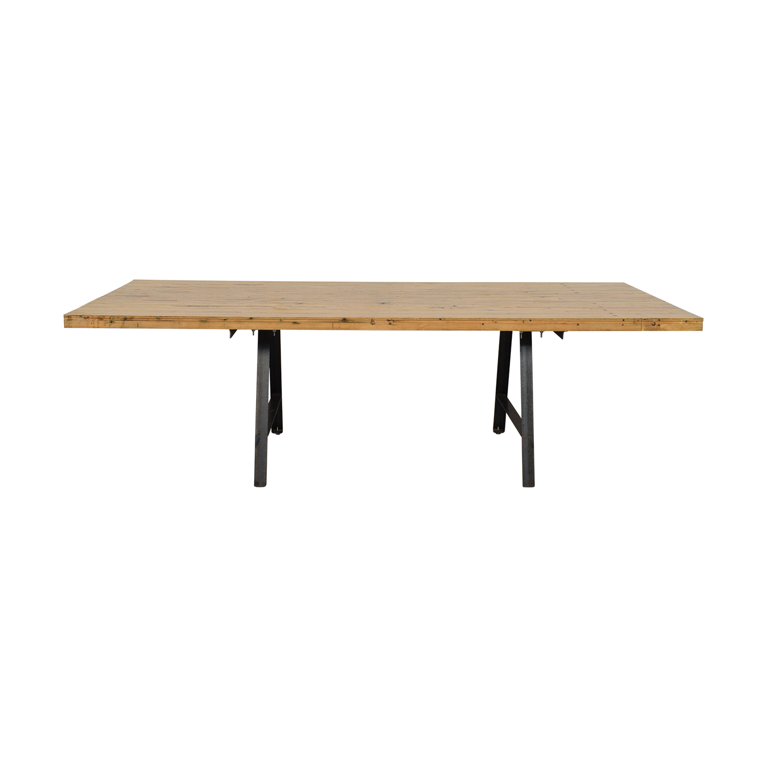 buy  Salvaged Bowling Alley Dining Table with Industrial Legs online