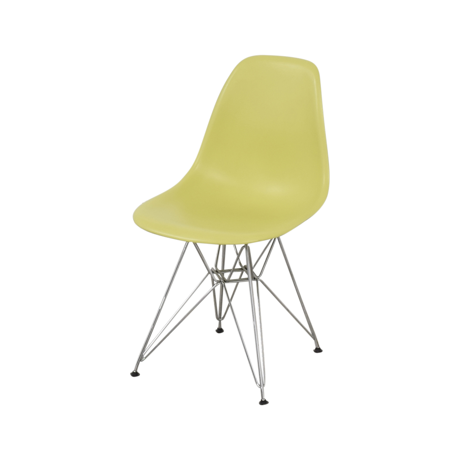 Vitra Eames Molded Plastic Wire-Base Side Chairs Vitra