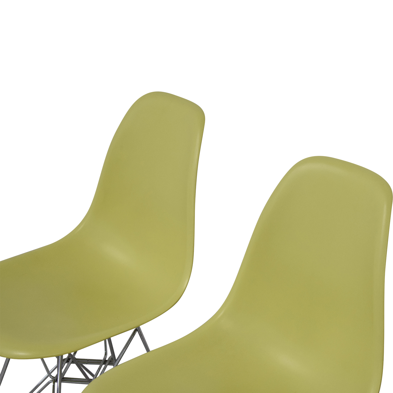 Vitra Eames Molded Plastic Wire-Base Side Chairs sale