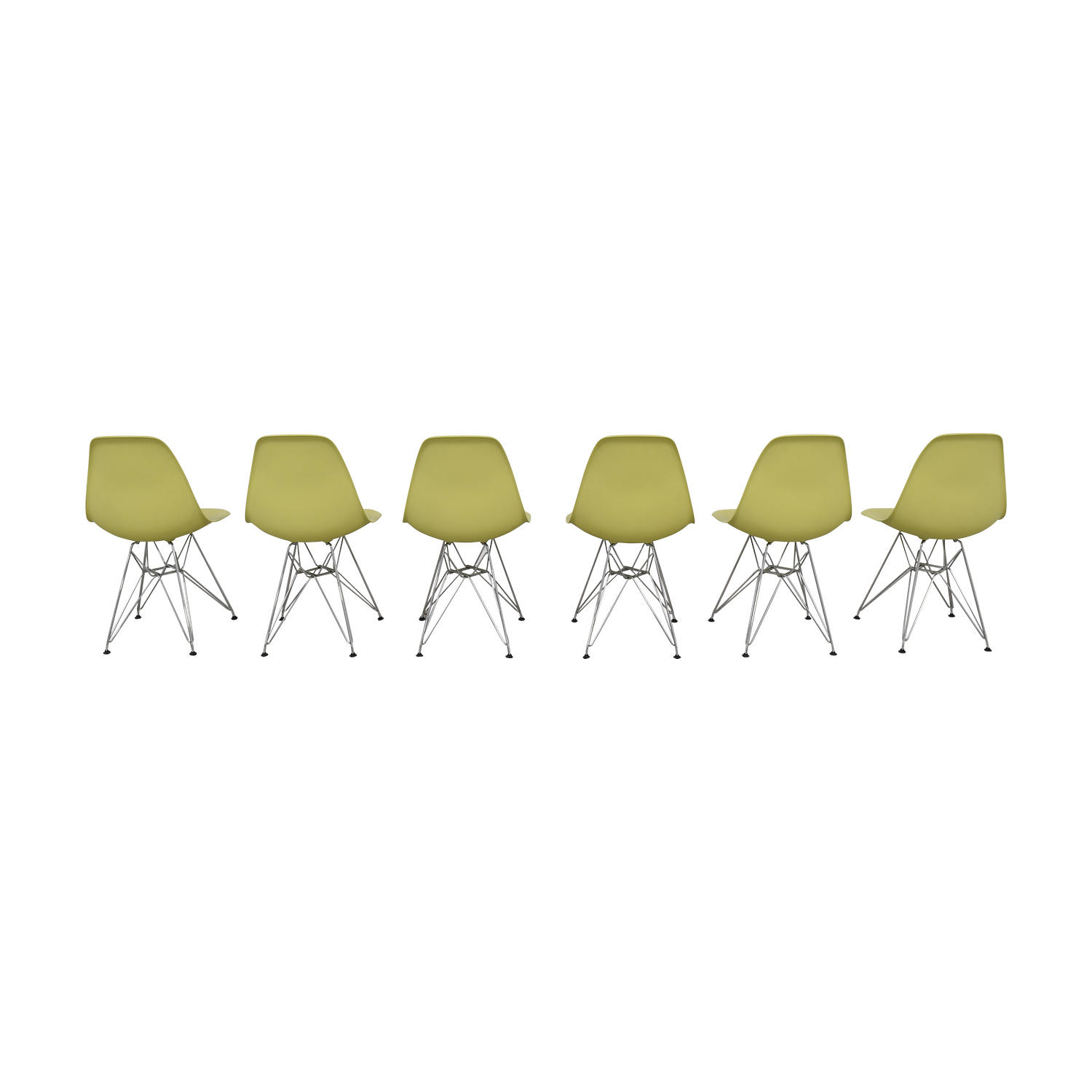 Vitra Vitra Eames Molded Plastic Wire-Base Side Chairs ct
