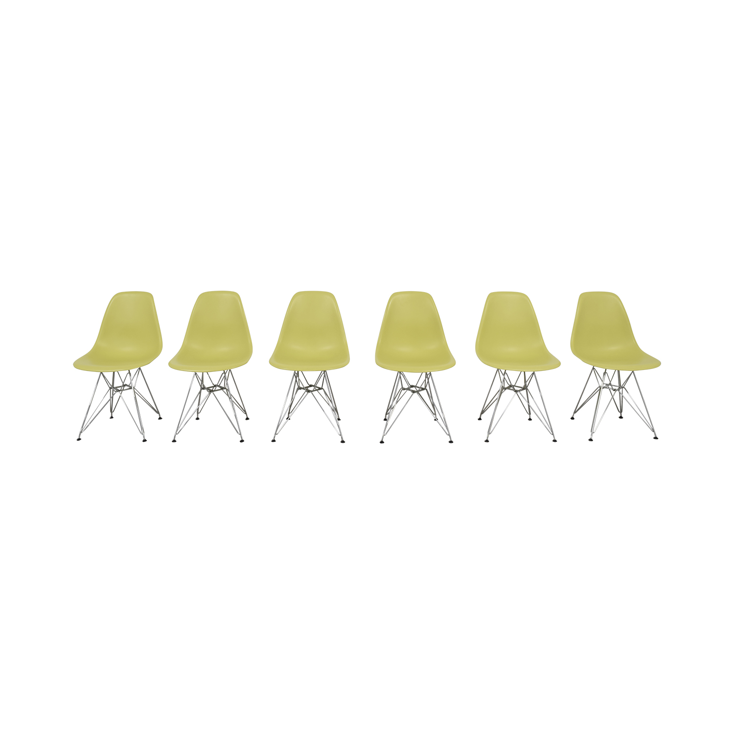 Vitra Vitra Eames Molded Plastic Wire-Base Side Chairs second hand
