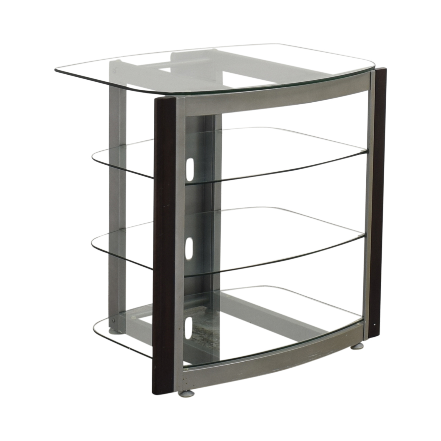 West Elm Glass TV Stand price