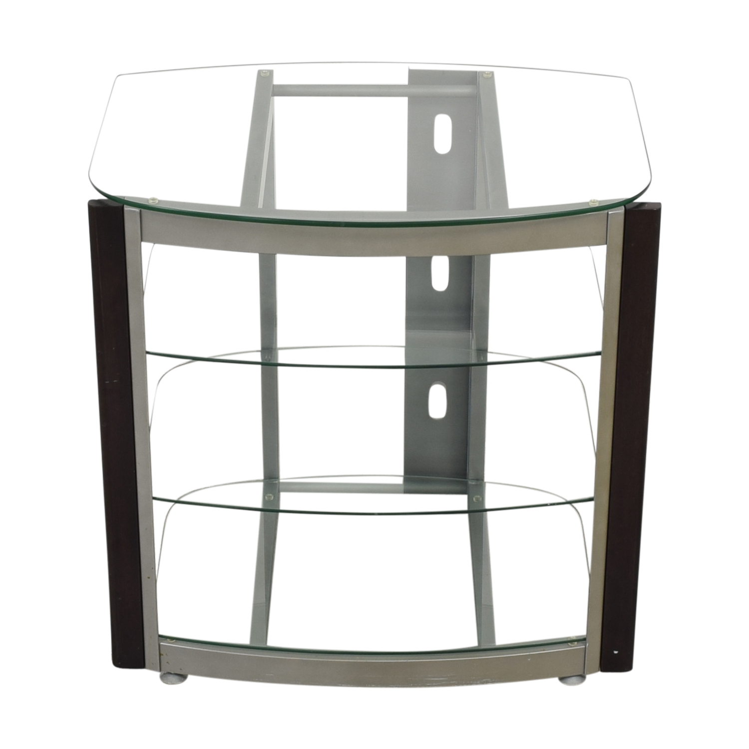 West Elm Glass TV Stand dimensions