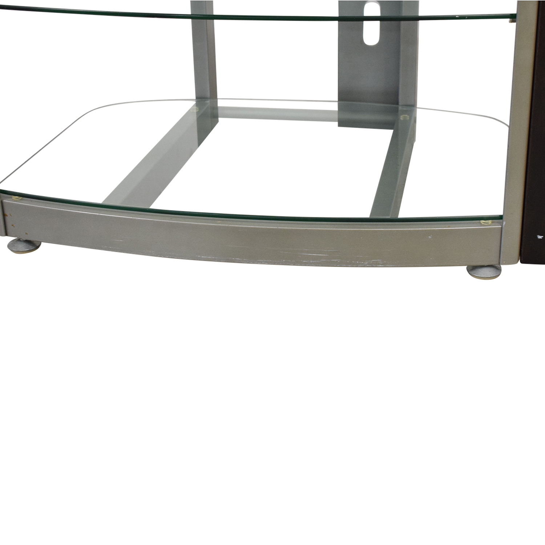 West Elm Glass TV Stand Storage