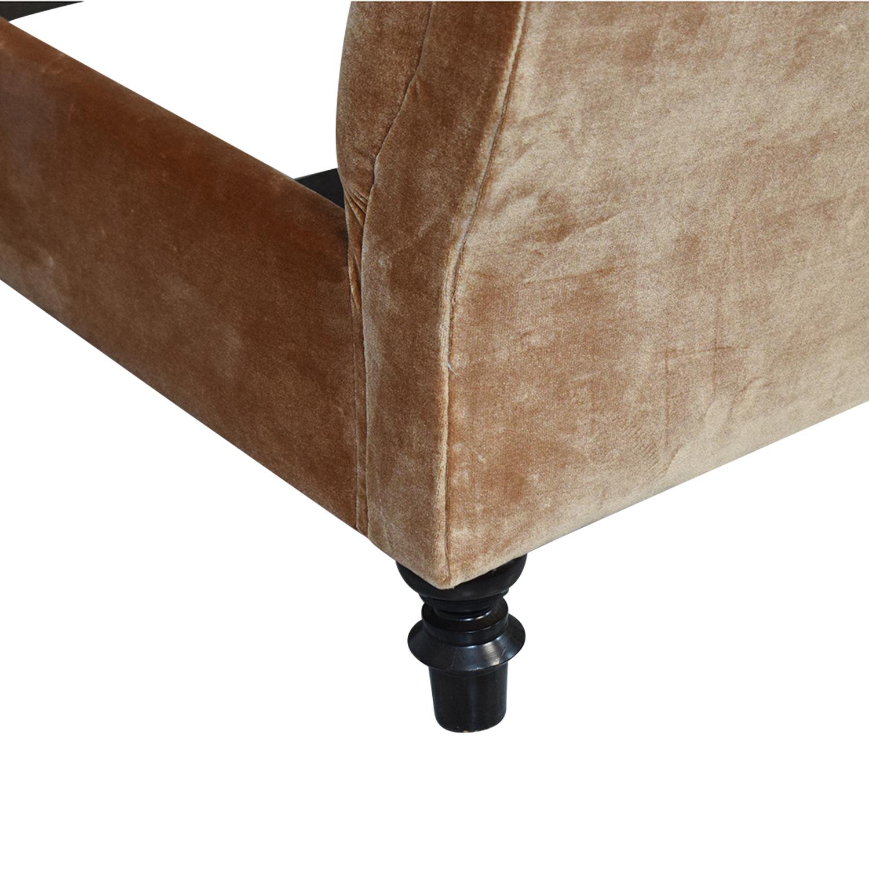 buy King Side Custom Fabric King Bed  Bed Frames