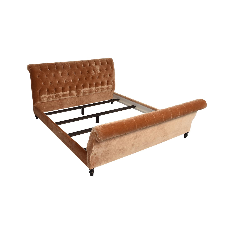 King Side Custom Fabric King Bed nyc