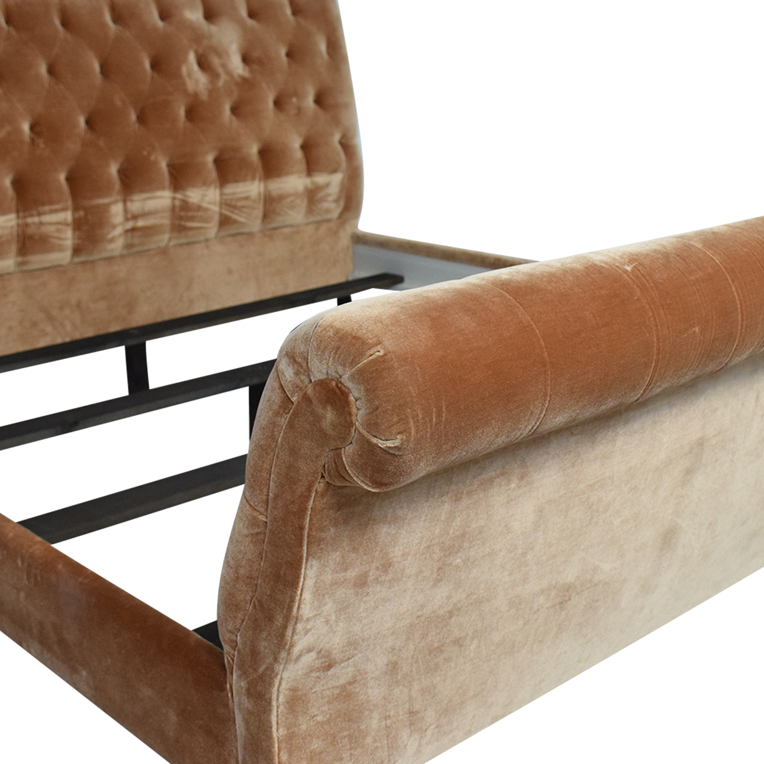 shop King Side Custom Fabric King Bed  Beds