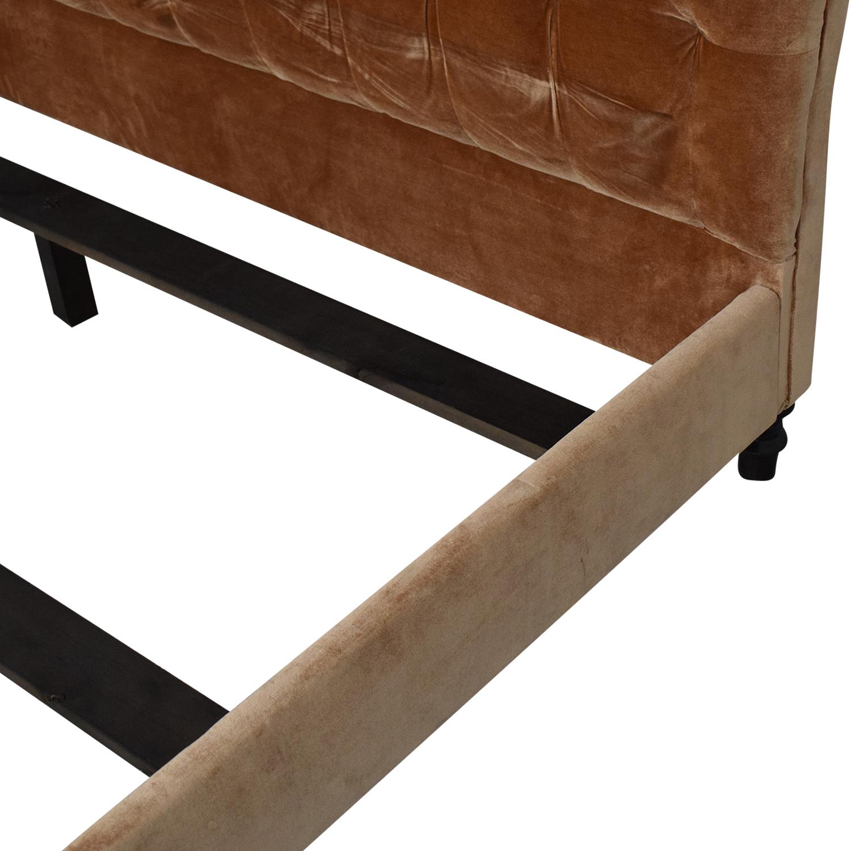 King Side Custom Fabric King Bed price