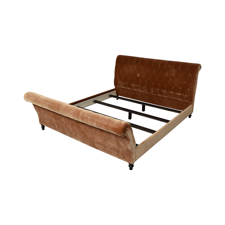 King Side Custom Fabric King Bed ma