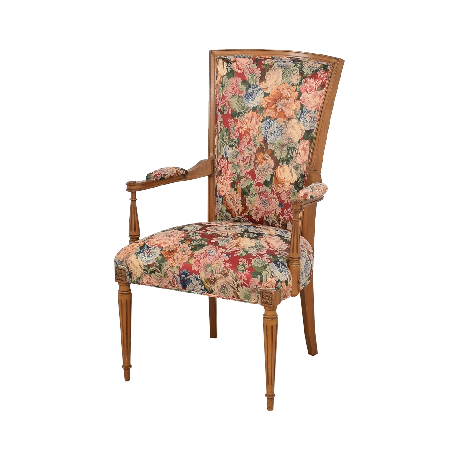 shop  Floral Upholstered Arm and Side Dining Chairs online