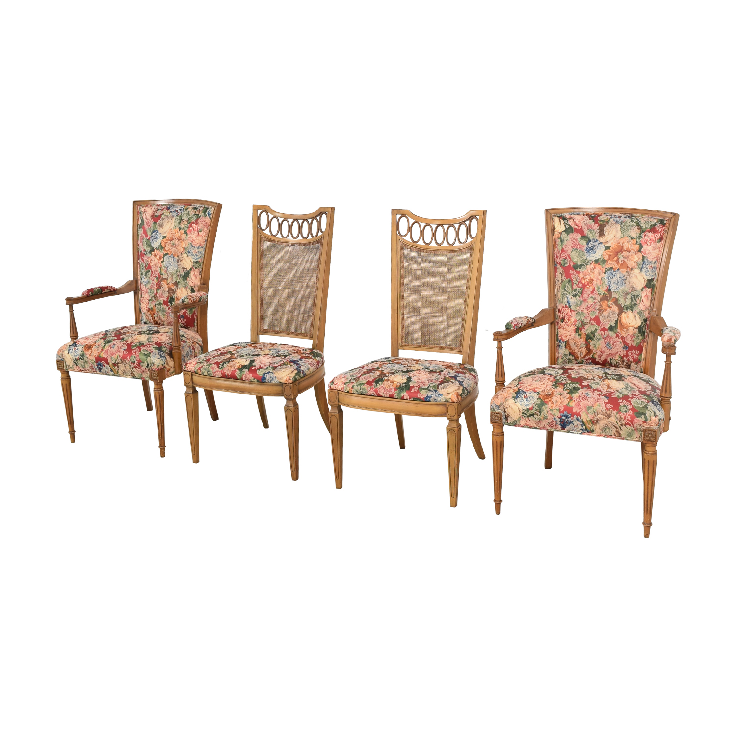 shop Floral Upholstered Arm and Side Dining Chairs  Dining Chairs